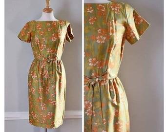 ON SALE Vintage 60s Silk Dress