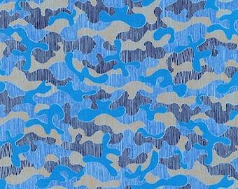 Gleaned Camo in Blueprint, Carolyn Friedlander, Robert Kaufman Fabrics, 100% Cotton Fabric, AFR-17294-387 BLUEPRINT