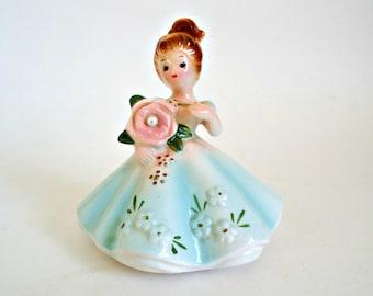 Josef Figurines Vintage Josef Originals June Pearl Birthday Girl Figurine