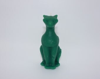 Kitty cat pillar candle bees wax fraser fir scent cat candle