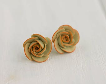 Blue Green Succulent Planter Stud Earrings Wholesale Small Hypoallergenic Studs Earstuds Succulent Plants Jewelry Wedding Birthday Bridal