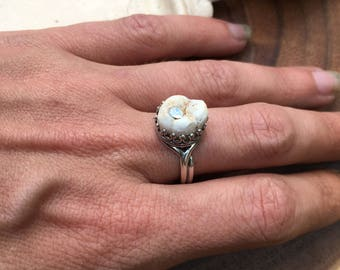 Jeweled Tooth Ring
