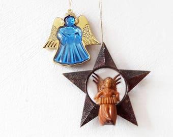 Vintage Christmas Ornament Angel German Made of Plastic Holiday Season Christmas Tree