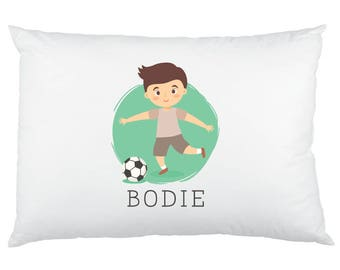 little soccer player boy pillowcase custom printed pillow cases custom printed with name