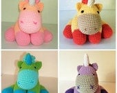 Christmas In July Sale MADE TO ORDER Cuddly Unicorn - Your Choice of Colors
