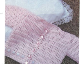 Pink Cardigan CROCHET PATTERN Instant Download Pdf