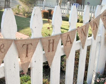 Thanksgiving Decor, Thanksgiving Banner, Give Thanks banner bunting