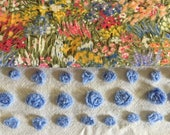 Custom floral vintage chenille pillow