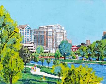 Huntsville Alabama painting city scene