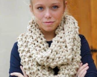 Tycam Handmade Knit Infinity Scarf - Cream