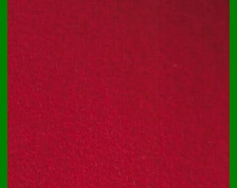 RED Fleece Fabric 1 Yard 62 Inches Wide, Stockings, Tree Skirts, Plush Toys, Batting