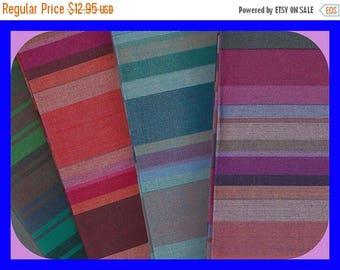 ON SALE Stripe Cotton Fat Quarters FABRIC 18 x 22 Inch 4 Pcs
