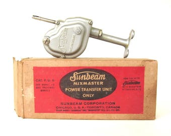 Sunbeam Mixmaster Power Transfer Unit 10 & PU6 for Electric Stand Mixer Attachments