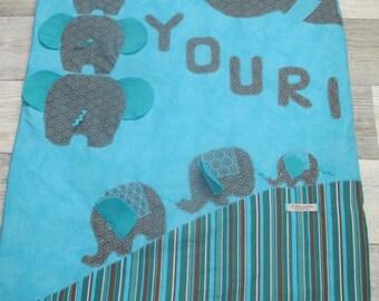 Elephants for Yuri themed baby blanket