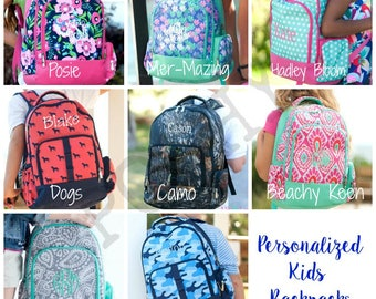 Monogrammed Kids Backpack, Personalized Backpack, Back to school, Kids backpack, girls backpack, boys backpack