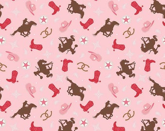 04501 - Riley Blake Cowgirl collection C5638 Rodeo in multi color- 1/2 yard -  half yard