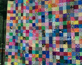 Handmade Queen Quilts - King Size Quilts - Patchwork Quilts - Traditional Quilts - Scrappy Quilts, Q1