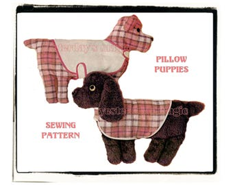 Instant Download PDF Full Size Printable Sewing Pattern to make a 12 inch Tall Cuddly Puppy Dog Bean Bag Soft Toy Pet Animal Pillow Pal