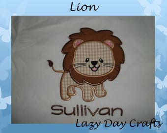 Lion - Circus - Zoo - Short Sleeve Appliqued Tshirt - Infant and Toddler Size Tshirt - 6 months to 5/6