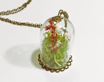 The Secret Garden // Dried Flower Garden Terrarium Necklace