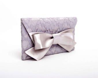 Big sale - Grey  lace clutch bridesmaid gift  envelop clutch wedding clutch,Evening bag
