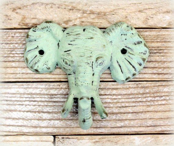 Elephant Hook, Nursery, Shabby Chic, Rustic Wall Decor, Rustic Home Decor, Wall hook, Towel Hook, Nursery Decor, Elephant Nursery