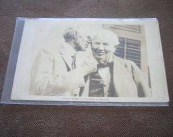 Vintage Post Card Henry Ford and Thomas A Edison