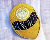Gold Protocol Droid Glitter Fascinator - Original Design By Hat and Mouse