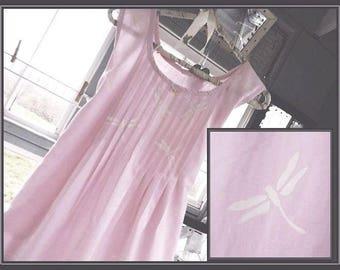 FREE shipping in US-MEDIUM-Ginny, Women's Sleeveless Cotton Nightgown, Premium Cotton,  PinTucked, Waltz Length, Vintage Inspired