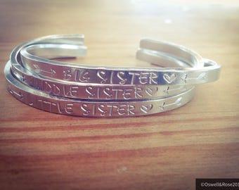 Sister bangles. Choose combo...cuff bangle...