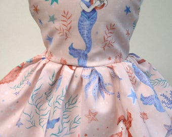 Mermaid Dreams, Sleeveless Dress for your 18 Inch Doll A