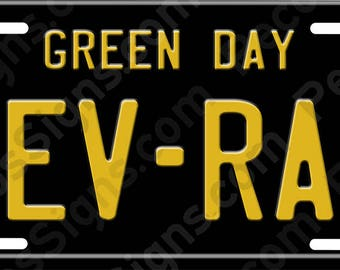 Green Day Rev-Rad Tour - Made in the USA Aluminum Plate