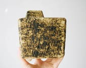 Mid Century Textured Travertine Studio Pottery Vase // Dutch Pottery // Pieter Groeneveldt