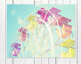 Decor Art Photography | Ferris Wheel Picture | Nursery Wall Art Prints | Nursery Decor Prints | Carnival Art Decor Print | Large Wall Art