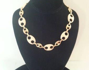 Now On Sale Vintage Monet Necklace * Signed Vintage Jewelry * Mad Men Mod * Vintage Statement Jewelry