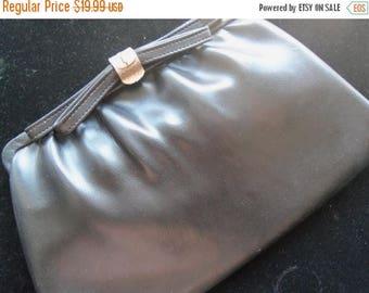 Now On Sale Vintage Black Clutch 1960's Purse Mad Men Mod Rockabilly Accessories Mid Century