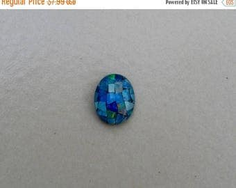 ON SALE Opal mosaic rainbow oval triplet 10 x 8mm