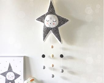 Sleepy Star Handmade Wall Hanging