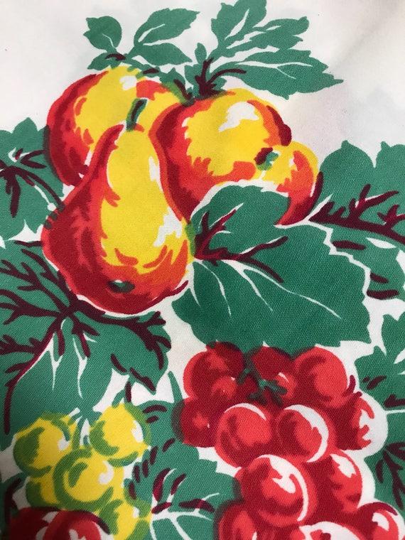 Vintage fruit tablecloth 1950s Fruit