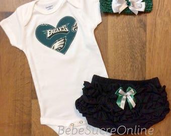 Philadelphia Eagles Outfit and Headband