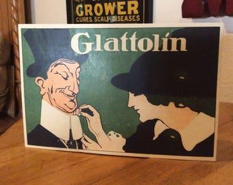 1910 Glattolin collarwax sign