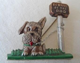 Deco era fabulous beware of the dog brooch