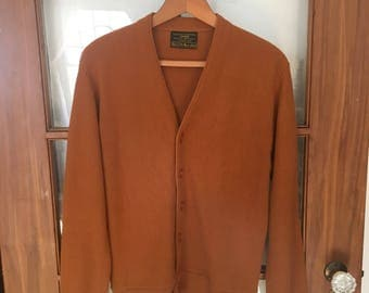 Rust 1970s cardigan
