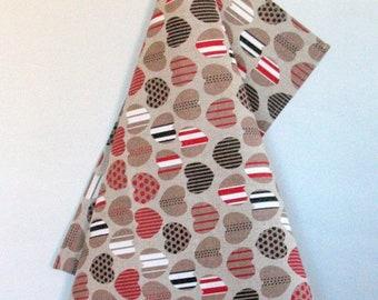Linen Dish Towels Tea Towels Love Heart Wedding Gift - Tea Towels set of 2
