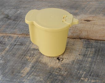 Vintage Tupperware Gold Creamer Flip Top Lid