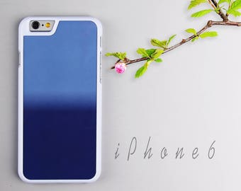 Blue Shaded iPhone 6 case, White iPhone 6s Plastic case, iPhone 6s PC cover - HTPC618