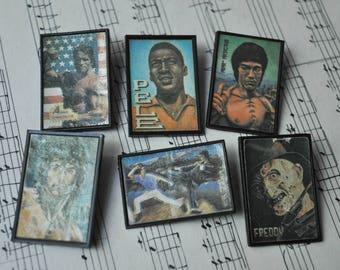 Set of 6 Vintage Russian plastic badges,pins.