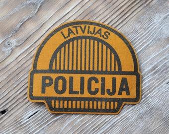 Vintage Latvian Police uniform patch.