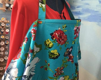 Breastfeeding nursing cover up apron like  hooter hider floral