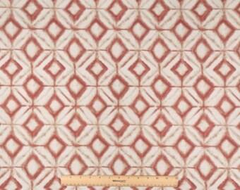 One Custom Twin Size Mattress Cover Indoor/Outdoor  - Geometric Diamond Well - Burnt Orange